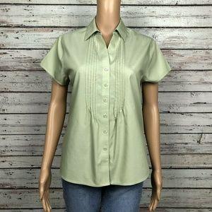 Coldwater Creek Button Up Shirt Light Aloe Green
